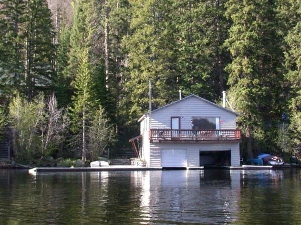 A view of the boat house from Grand Lake