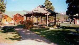 The gazebo in the center of Grand Lake, Colorado